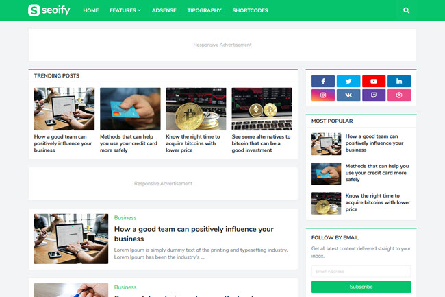 For blogger free template 25 Best